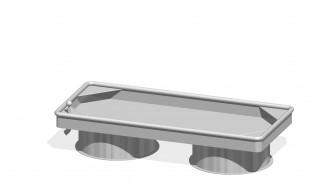 Prostokątny stół wodny 0,25 m